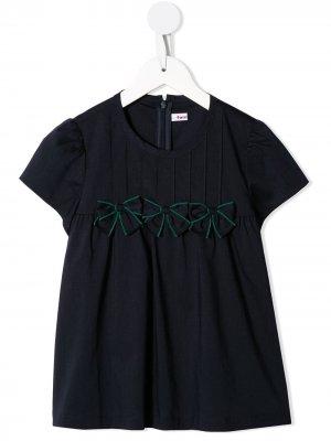 Блузка с бантами Familiar. Цвет: черный