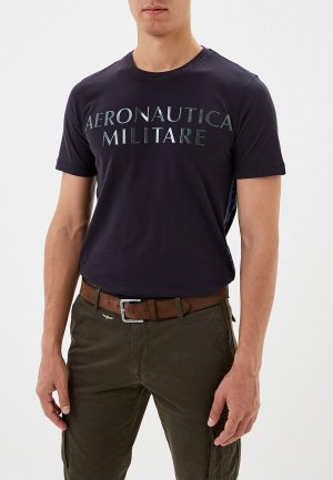 Футболка Aeronautica Militare. Цвет: синий