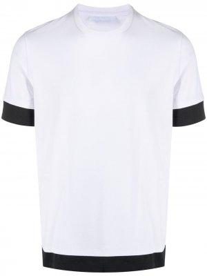 Многослойная футболка с круглым вырезом Neil Barrett. Цвет: белый