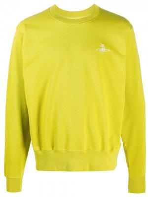 Джемпер с вышитым логотипом Vivienne Westwood Anglomania. Цвет: зеленый