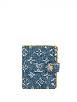 Джинсовый чехол для ноутбука pre-owned Louis Vuitton. Цвет: синий