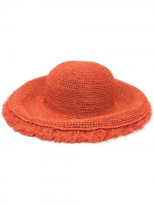 Соломенная шляпа Mirana с бахромой IBELIV. Цвет: оранжевый