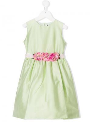 Платье с цветочным декором Lesy. Цвет: зеленый