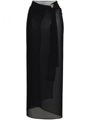 Пляжная юбка Versace. Цвет: черный