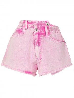 Джинсовые шорты с запахом Ground Zero. Цвет: розовый