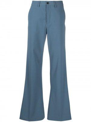 Расклешенные брюки строгого кроя Closed. Цвет: синий