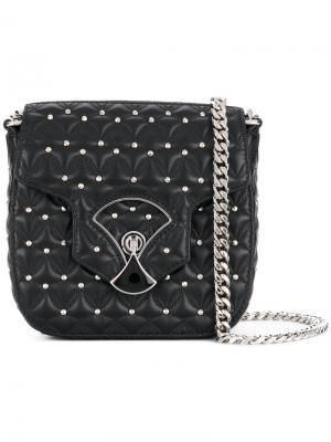 Стеганая сумка через плечо Divas Dream Bvlgari. Цвет: черный