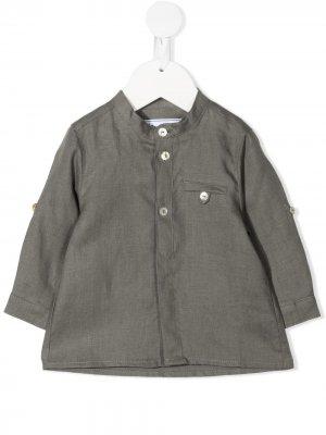 Рубашка с воротником-стойкой Tartine Et Chocolat. Цвет: зеленый