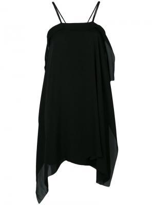 Короткое многослойное платье Isabel Benenato. Цвет: черный