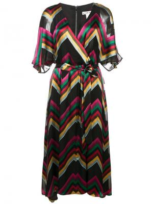 Платье миди Lexa Alice+Olivia. Цвет: разноцветный