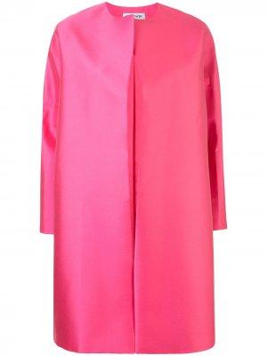 Пальто без застежки Dice Kayek. Цвет: розовый