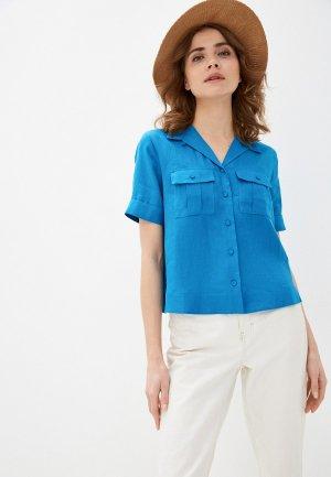 Блуза Marks & Spencer. Цвет: голубой