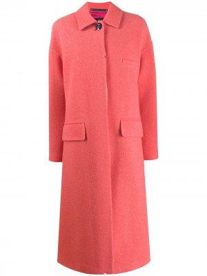 Однобортное пальто PS Paul Smith. Цвет: розовый