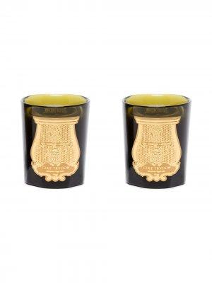 Набор ароматических свечей Imperial Duet Cire Trudon. Цвет: черный