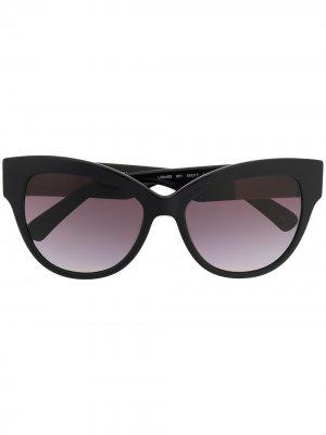 Солнцезащитные очки в оправе кошачий глаз Longchamp. Цвет: черный