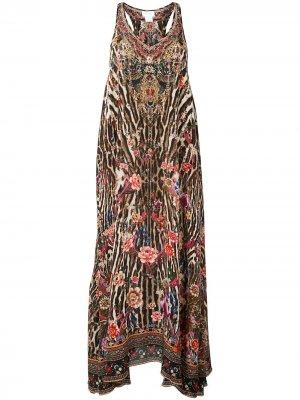 Платье без рукавов Camilla. Цвет: разноцветный