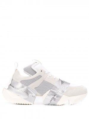 Кроссовки на массивной подошве UNRAVEL PROJECT. Цвет: белый