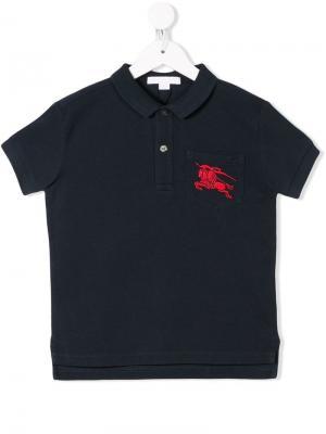Big Pony polo shirt Burberry Kids. Цвет: белый