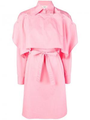 Платье-рубашка в стиле кейп Ports 1961. Цвет: розовый