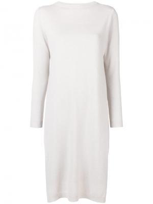 Layered knit dress Peserico. Цвет: нейтральные цвета