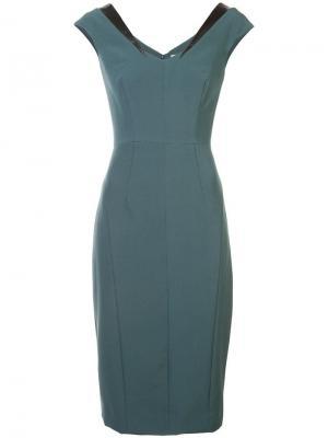 Платье по фигуре Milly. Цвет: зеленый