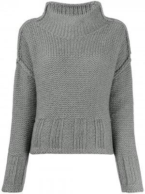 Джемпер крупной вязки с высоким воротником Pierantoniogaspari. Цвет: серый