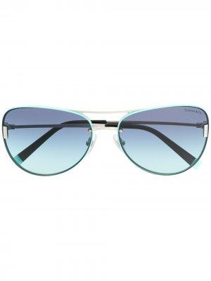Солнцезащитные очки-авиаторы Tiffany & Co Eyewear. Цвет: синий