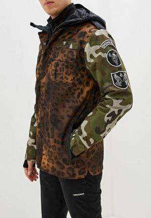 Куртка горнолыжная Volcom. Цвет: разноцветный