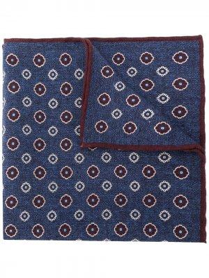 Платок с цветочным принтом Eleventy. Цвет: синий