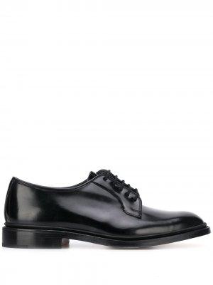 Trickers туфли дерби на шнуровке Tricker's. Цвет: черный