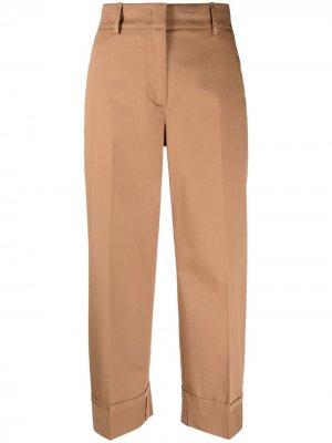 Укороченные брюки с завышенной талией Seventy. Цвет: коричневый