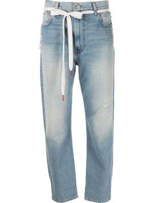 Зауженные джинсы Harper Denimist. Цвет: синий
