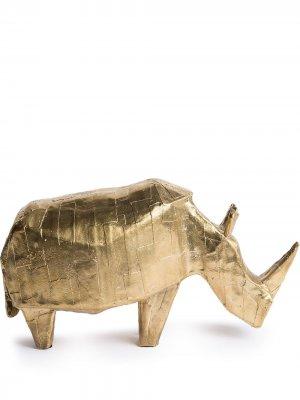 Декоративная фигурка в форме носорога Pulpo. Цвет: золотистый