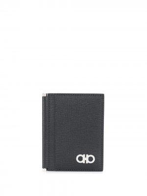Складной кошелек Salvatore Ferragamo. Цвет: черный