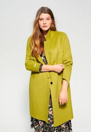 Пальто Violeta by Mango. Цвет: зеленый