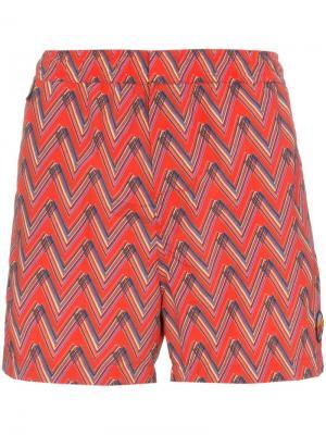 Пляжные шорты с принтом Missoni Mare. Цвет: красный