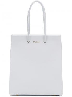 Маленькая сумка-шоппер Medea. Цвет: белый