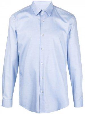 Рубашка с длинными рукавами Boss Hugo. Цвет: синий