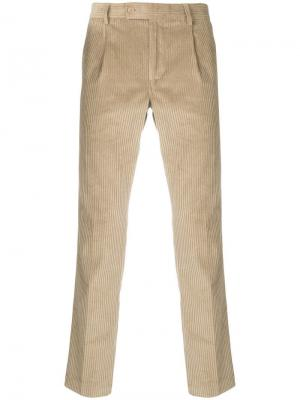 Corduroy straight trousers Daniele Alessandrini. Цвет: нейтральные цвета