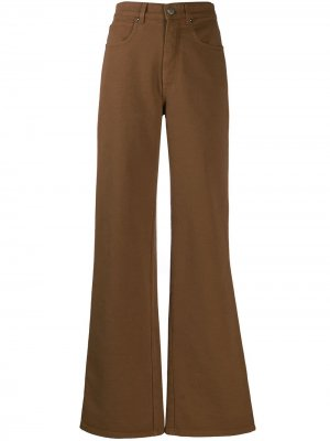 Расклешенные брюки с пятью карманами Alberta Ferretti. Цвет: коричневый