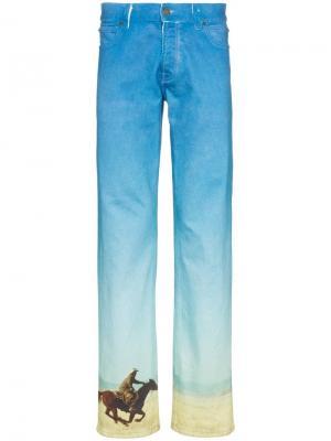 Прямые джинсы с принтом Horse Calvin Klein Jeans Est. 1978. Цвет: синий