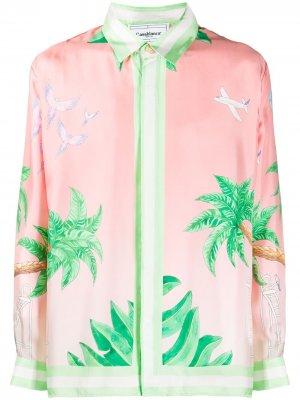 Рубашка Ocean Resort с длинными рукавами Casablanca. Цвет: розовый