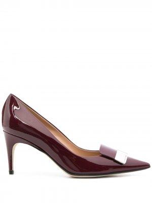 Туфли-лодочки с пряжкой Sergio Rossi. Цвет: красный