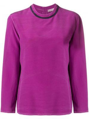 Блузка с длинными рукавами 1990-х годов Versace Pre-Owned. Цвет: фиолетовый