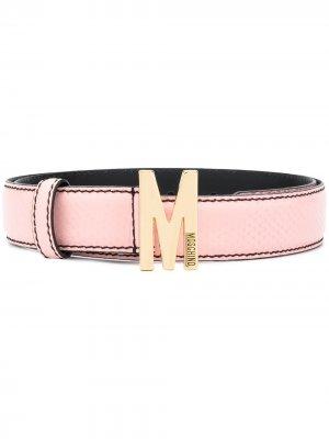 Ремень с пряжкой M Moschino. Цвет: розовый