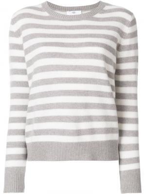 Полосатый джемпер Allude. Цвет: серый