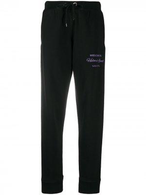 Спортивные брюки с вышитым логотипом Helmut Lang. Цвет: черный