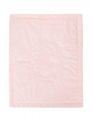 Одеяло с вышивкой Monnalisa. Цвет: розовый