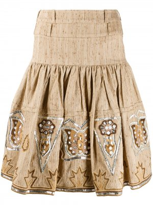 Юбка мини со складками pre-owned Christian Dior. Цвет: нейтральные цвета