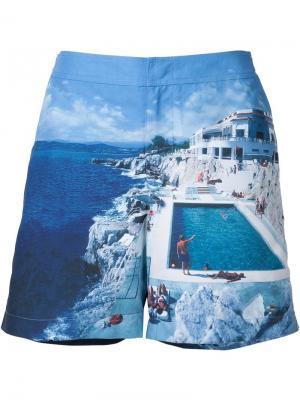 Пляжные шорты с принтом Orlebar Brown. Цвет: синий